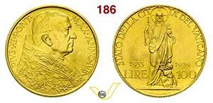 PIO XI  (1929-1938)  100 Lire 1933-1934 Jub, ...