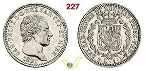 CARLO FELICE  (1821-1831)  Lira 1827 Genova. ...