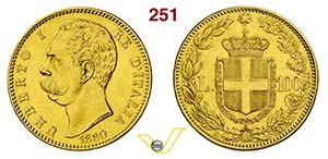 UMBERTO I  (1878-1900)  100 Lire 1880 Roma.  ...