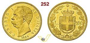 UMBERTO I  (1878-1900)  100 Lire 1883 Roma.  ...