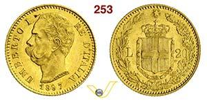 UMBERTO I  (1878-1900)  20 Lire 1897 Roma.   ...