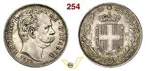 UMBERTO I  (1878-1900)  5 Lire 1878 Roma.   ...