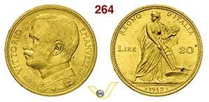 VITTORIO EMANUELE III  (1900-1946)  20 Lire ...