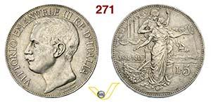 VITTORIO EMANUELE III  (1900-1946)  5 Lire ...