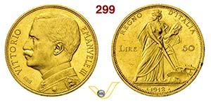 VITTORIO EMANUELE III  (1900-1946)  50 Lire ...