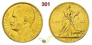 VITTORIO EMANUELE III  (1900-1946)  10 Lire ...