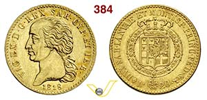 SAVOIA - VITTORIO EMANUELE I  (1802-1821)  ...