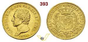 SAVOIA - CARLO FELICE  (1821-1831)  20 Lire ...