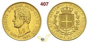 SAVOIA - CARLO ALBERTO  (1831-1849)  20 Lire ...