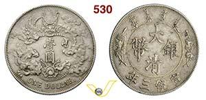 CINA - Hsuan Tung -   (1909-1911)  Dollaro ...