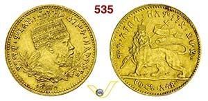 ETIOPIA - MENELIK II  (1889-1913)  1/2 Werk ...