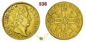 FRANCIA - LUIGI XIV  (1643-1715)  Doppio ...