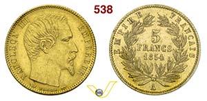 FRANCIA - NAPOLEONE III  (1852-1870)  5 ...