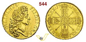 GRAN BRETAGNA - GUGLIELMO III  (1694-1702)  ...