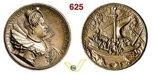 MARIA DE MEDICI  (1573-1642)  Med. 1615.  ...