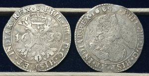 2 Scudi del Brabante di Filippo IV: 1639 e ...
