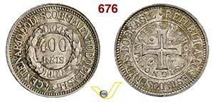 BRASILE - REPUBBLICA  (dal 1889)  400 Reis ...