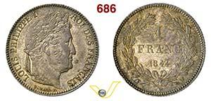 FRANCIA - LUIGI FILIPPO  (1830-1848)  1 ...