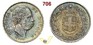 ITALIA - SAVOIA - UMBERTO I  (1878-1900)  1 ...