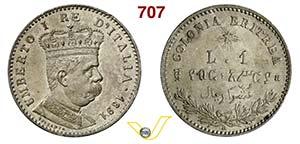 ITALIA - SAVOIA - UMBERTO I - monetazione ...