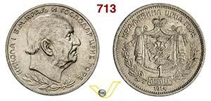 MONTENEGRO - NICOLA I  (1860-1918)  1 ...