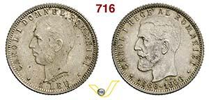 ROMANIA - CAROL I  (1866-1914)  Leu 1906.   ...