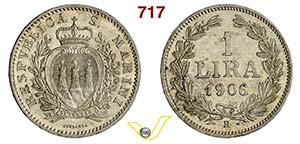 SAN MARINO - REPUBBLICA  (dal 1864)  1 Lira ...