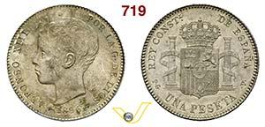 SPAGNA - ALFONSO XIII  (1886-1931)  1 Peseta ...