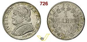 STATO PONTIFICIO - PIO IX  (1846-1878)  1 ...