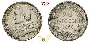 STATO PONTIFICIO - PIO IX  (1846-1878)  20 ...