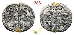 - PIO II  (1458-1464)  Bolla.  D/ Scritte  ...