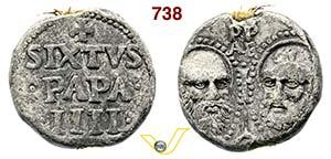 - SISTO IV  (1471-1484)  Bolla.  D/ Scritte ...