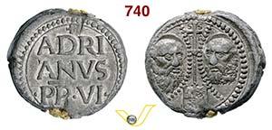 - ADRIANO VI  (1522-1523)  Bolla.  D/ ...