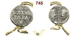 - SISTO V  (1585-1590)  Bolla.  D/ Scritte  ...