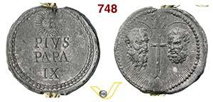 - PIO IX  (1846-1878)  Bolla.  D/ Scritta  ...