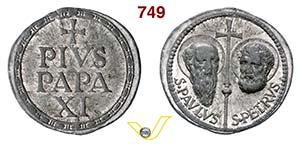 - PIO XI  (1922-1939)  Bolla.  D/ Scritta  ...