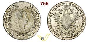 AUSTRIA - FRANCESCO I  (1792-1835)  20 ...