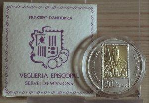 ANDORRA - 1992 - 20  Diners Esemplare con ...