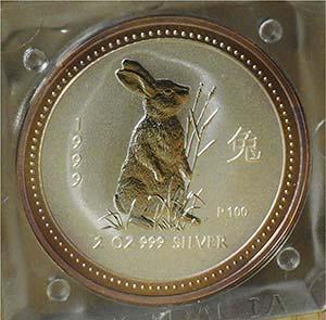 """AUSTRALIA - 1999 - 2 Dollari """"Coniglio"""", ..."""