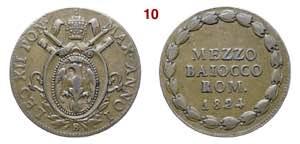 BOLOGNA  LEONE XII  (1823-1829)  Mezzo ...