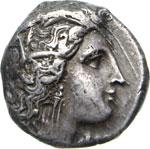 LUCANIA - METAPONTUM   (330 a.C.) Nomos.  D/ ...