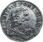 SISTO V  (1585-1590)  Testone s.d., Bologna. ...
