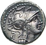 JUNIA - D. Junius Silanus L.f.  (91 a.C.)  ...