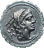 PROCILIA - L. Procilius  (80 a.C.)  Denario. ...