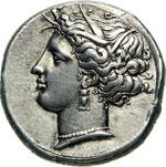 SICILIA - SICULO/PUNICHE -   (350-320 a.C.)  ...