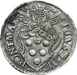PIO IV  (1559-1565)  Testone s.d., Roma.  D/ ...