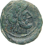 ANONIME  (169-158 a.C.)  Semisse.  D/ Testa ...