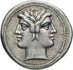 ROMANO-CAMPANE  (225-212 a.C.)  Didramma.   ...