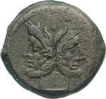 ANONIME  (169-158 a.C.)  Asse.  D/ Testa di ...