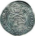ALESSANDRO VI  (1492-1503)  Grosso, Roma.  ...